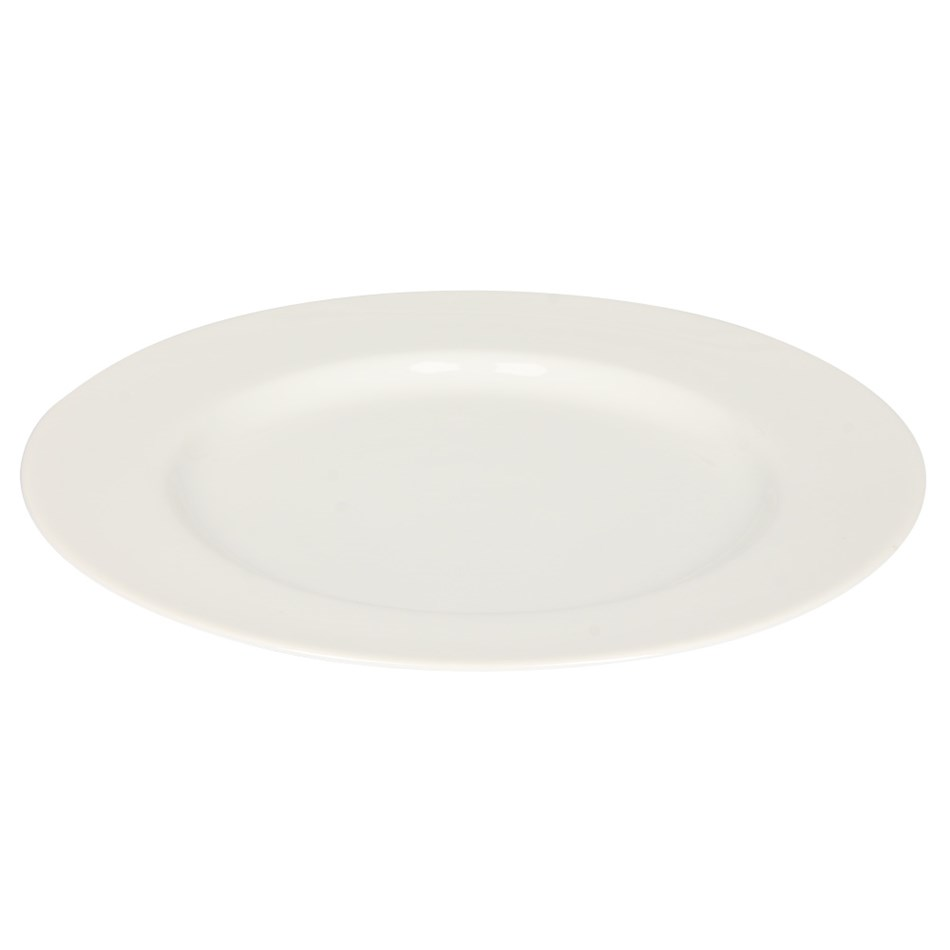 Home By Ballantynes Rimmed Dinner Plate 27cm - white