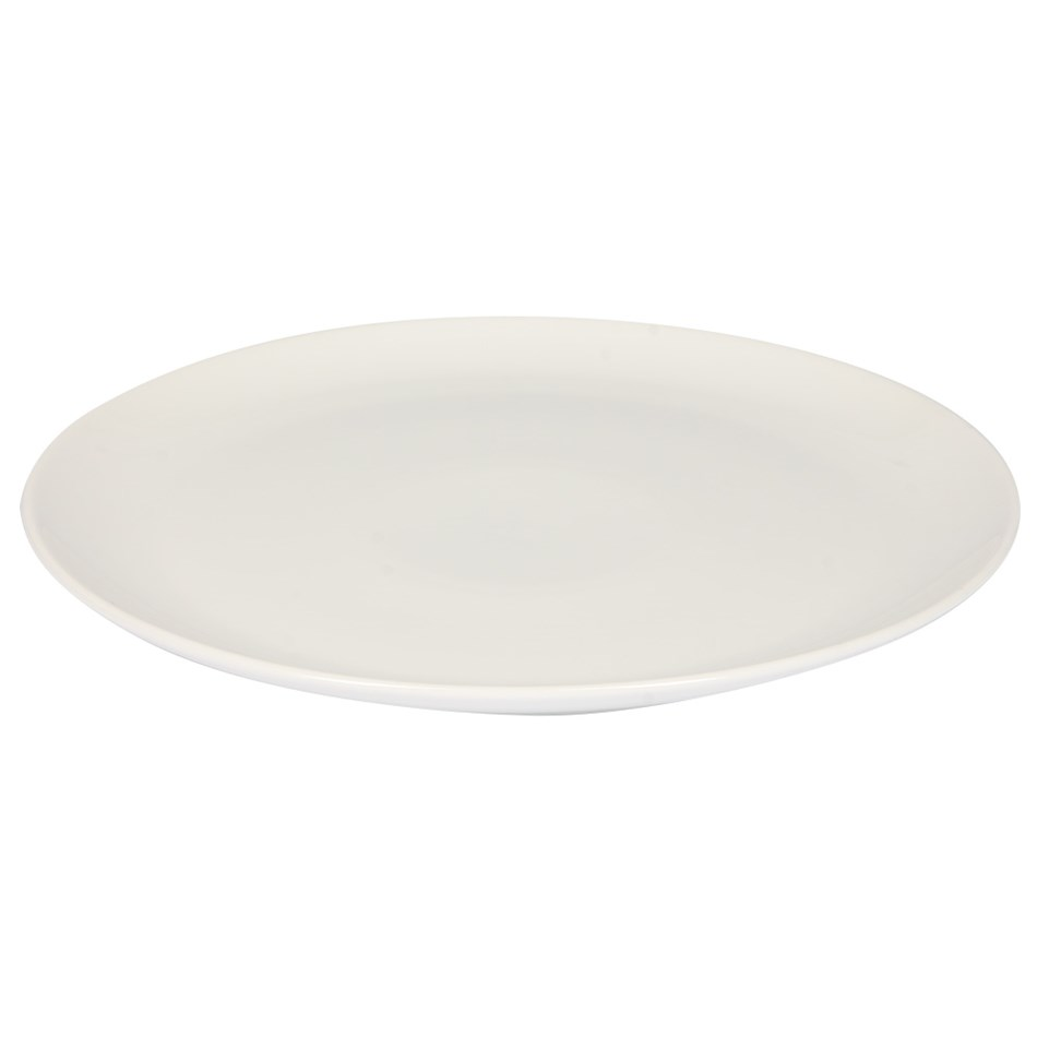 Home By Ballantynes Coupe Dinner Plate 27cm - white