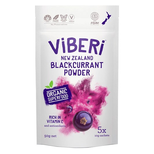 Viberi Organic Blackcurrant Powder 50g