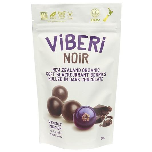 Viberi Noir 58% Dark Chocolate With Soft Blackcurrants 90g
