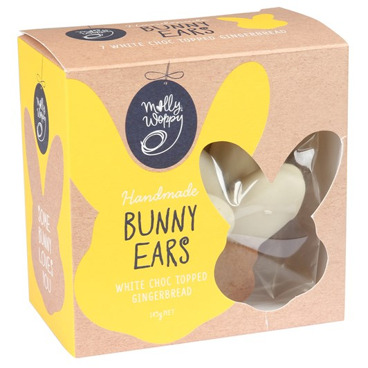 Molly Woppy Easter Gingerbread White Chocolate Bunny Ears 145g