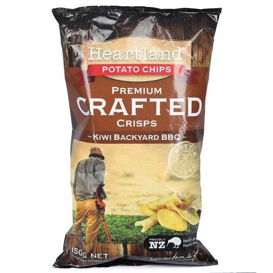 Heartland Premium Crafted Crisps - Kiwi Backyard BBQ 150g