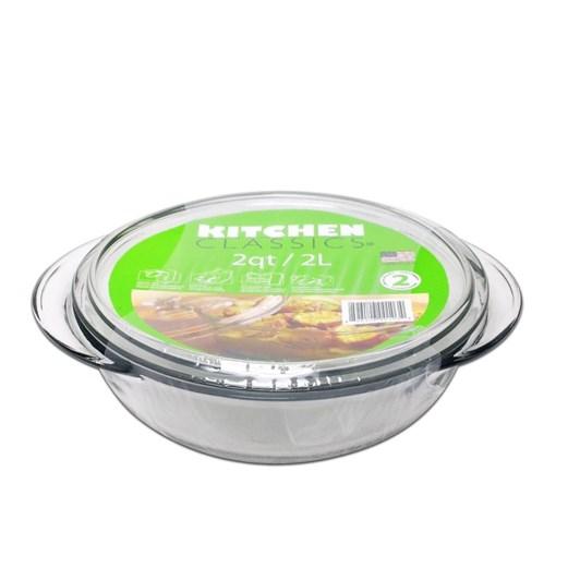 D.Line Casserole Dish with Lid 2 Litre