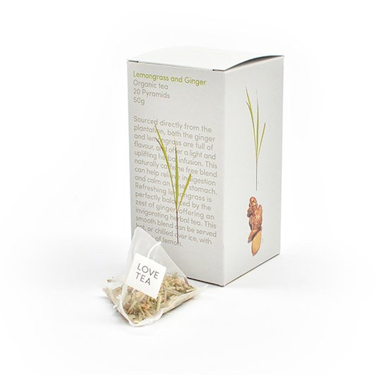 Love Tea Lemongrass & Ginger Pyramid 20