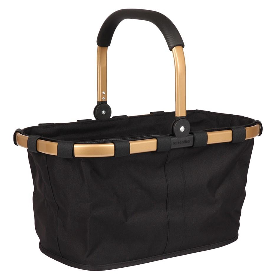 Reisenthel Black Carrybag with a Gold Frame -