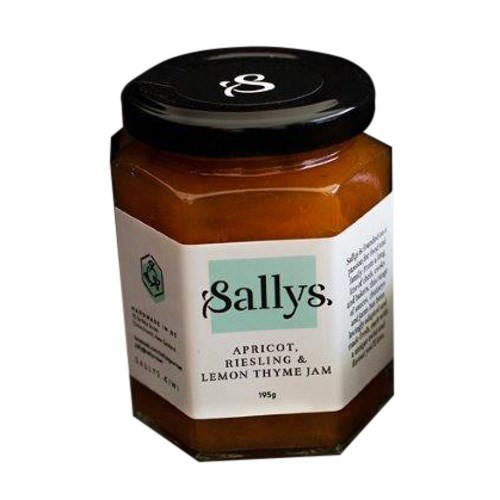 Sallys Apricot Riesling & Lemon Thyme Jam 195g
