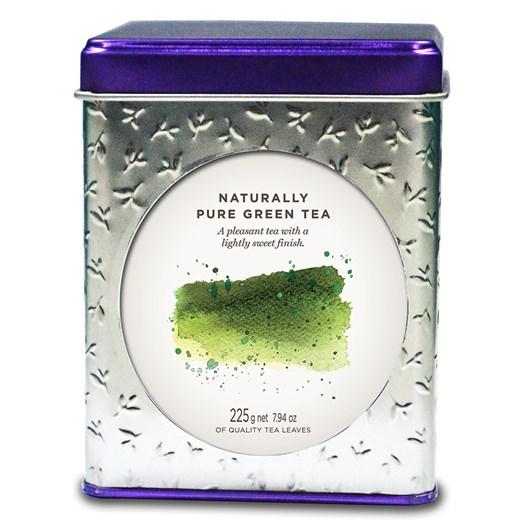 Dilmah Vivid Tin Caddy Square Natural Pure Green Tea