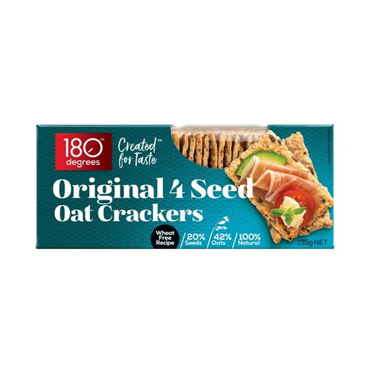 180 Degrees Original 4 Seed Oat Crackers 135g