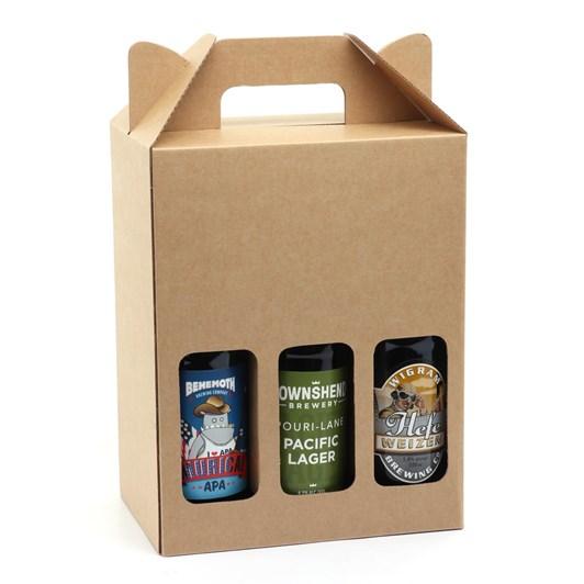Plain Manila Die D576 6 x 500ml Bottle Carry Pack