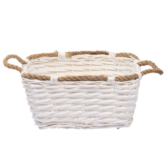 White Rectangle Basket 39x30x16.5cm
