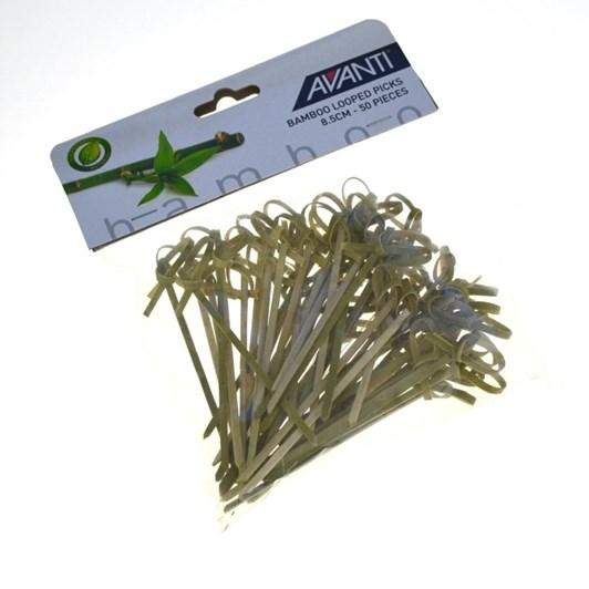 Avanti Bamboo Looped Picks 8.5cm - 50pc Pk