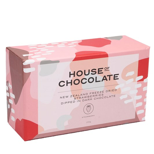 House of Chocolate Freeze Dried Strawberries in Dark Chocolate