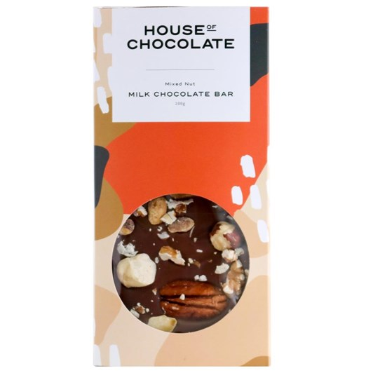 House of Chocolate Mixed Nut Milk Chocolate Bar