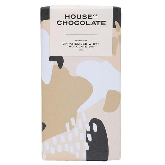 House of Chocolate Caramelised White Chocolate & Hazelnut Chocolate Bar