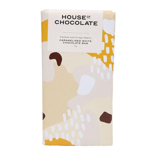 House of Chocolate Caramelised White Chocolate, Cookies & Pearls Bar