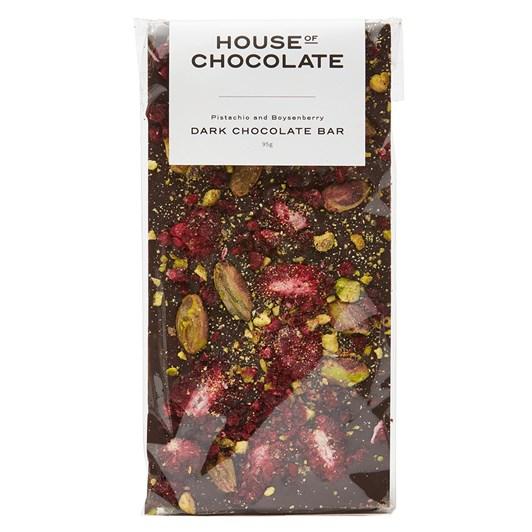 House of Chocolate Pistachio & Boysenberry Chocolate Bar 95g