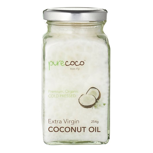 Purecoco Extra Virgin Coconut Oil Glass Jar 254g