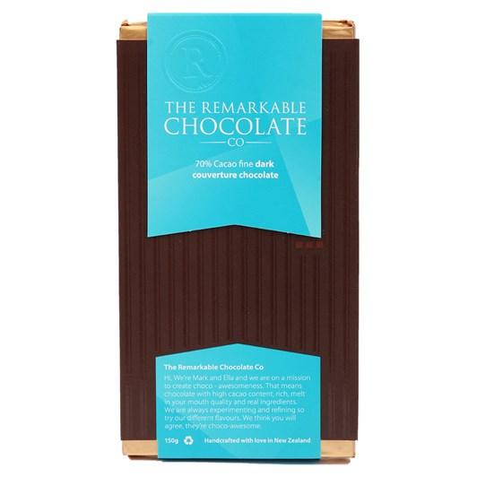 The Remarkable Chocolate Co Dark Bar 70% 150g