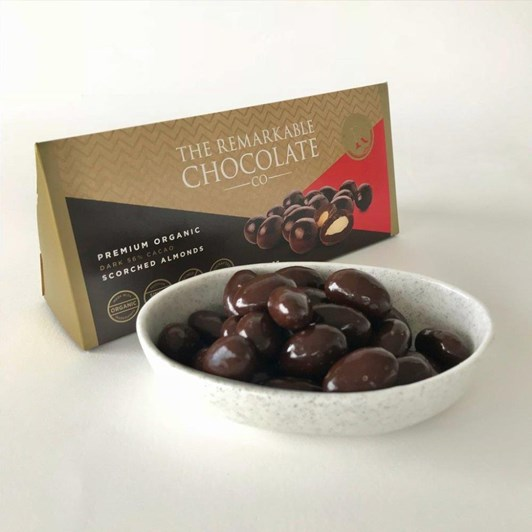The Remarkable Chocolate Co Organic Scorched Almonds 150g