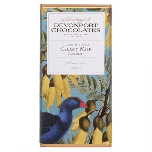 Devonport Chocolates Pukeko & Kowhai Milk Chocolate 80g