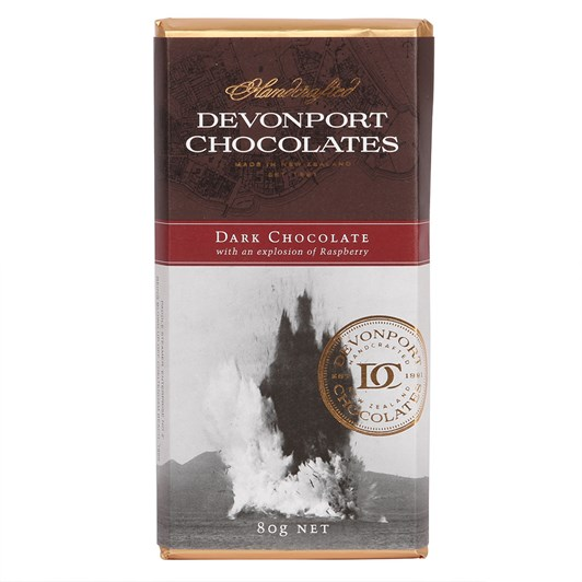 Devonport Chocolates Dark Chocolate With An Explosion Of Raspberry 80g