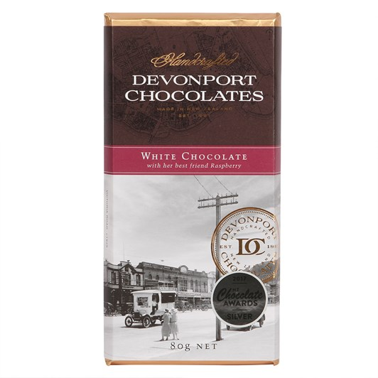Devonport Chocolates White Chocolate With Her Best Friend Of Raspberry 80g