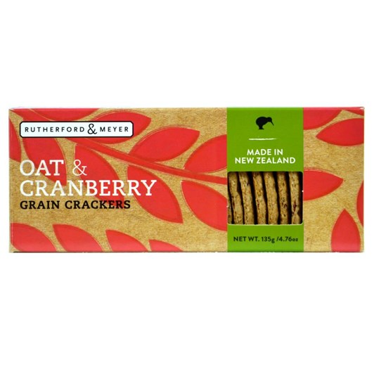 Rutherford & Meyer Oat And Cranberry Grain Crackers 135g