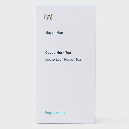 Mayan Man Cacao Husk Peppermint Tea Bags Box of 15
