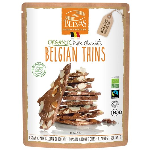 Belvas Thins Milk 120g