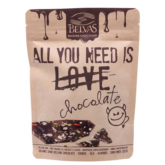 Belvas Thins Dark With Berries 120g