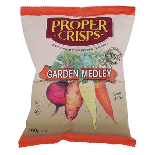 Proper Crisps Garden Medley 100g