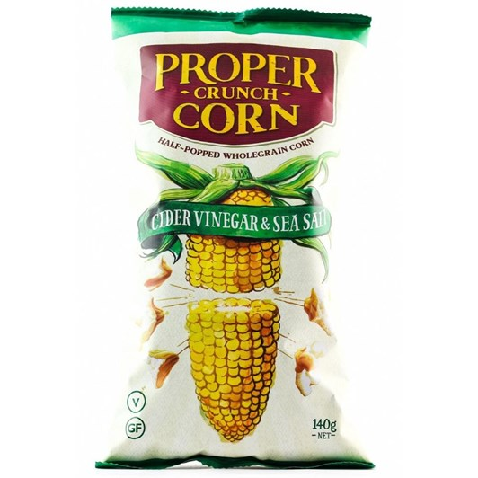 Proper Crisps Crunch Corn Cider Vinegar & Sea Salt 140g
