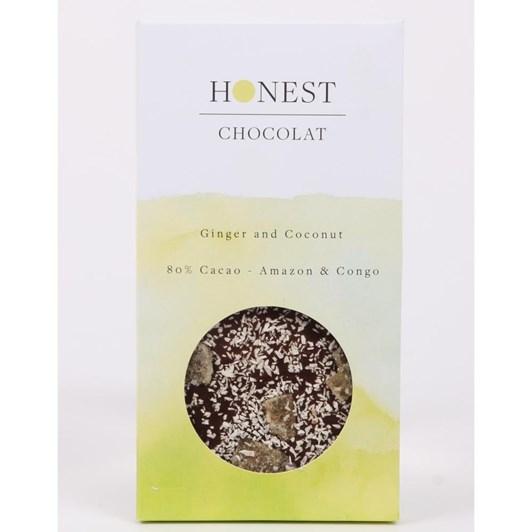 Honest Chocolat 80% Ginger & Coconut