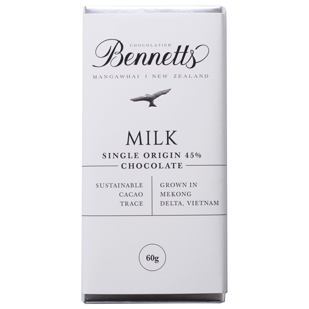 Bennetts Of Mangawhai Milk Chocolate Bar 60g - na
