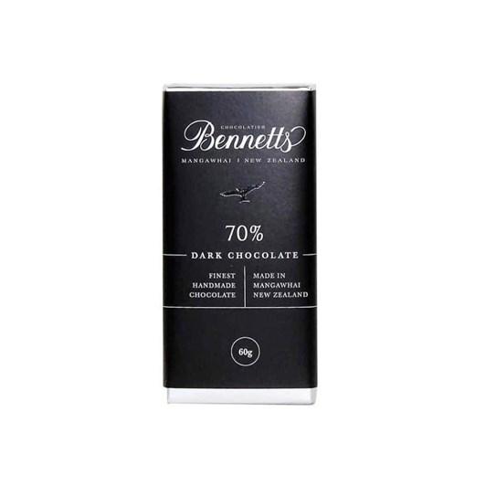 Bennetts Of Mangawhai 70% Dark Chocolate Bar 60g