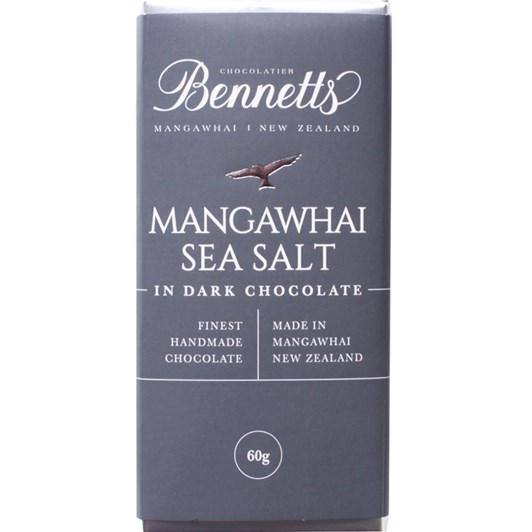 Bennetts Of Mangawhai Sea Salt Dark Chocolate Bar 60g