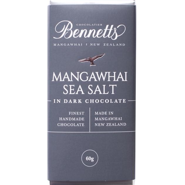 Bennetts Of Mangawhai Sea Salt Dark Chocolate Bar 60g - na