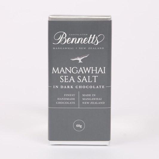Bennetts Of Mangawhai Sea Salt Dark Chocolate Bar 60g