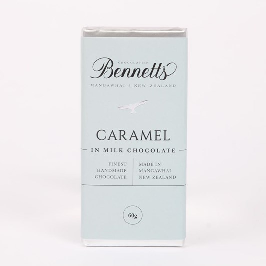 Bennetts Of Mangawhai Caramel Milk Chocolate Bar 60g