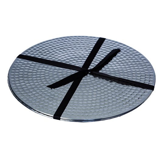 Just Slate 2 Stainless Steel Flat Hammered Place Mats 23cm