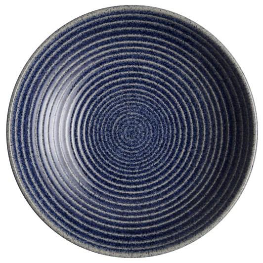 Denby Studio Blue Cobalt Med Ridged Bowl 26Cm