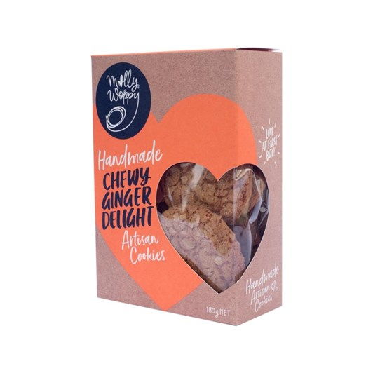 Molly Woppy Chewy Ginger Delight Cookies 185g