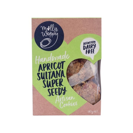 Molly Woppy Apricot Sultana Super Seedy Cookie (Dairy Free) 185g