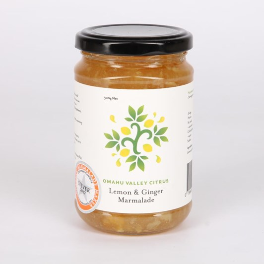 Omahu Valley Citrus Lemon & Ginger Marmalade 300g