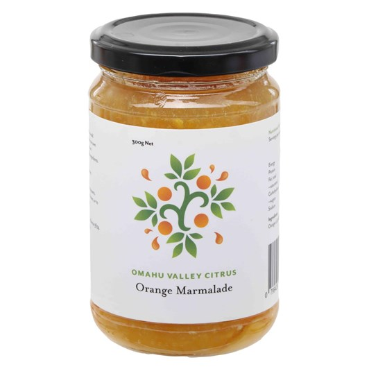 Omahu Valley Citrus Orange Marmalade 300g