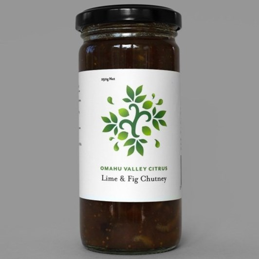 Omahu Valley Citrus Lime & Fig Chutney 250g