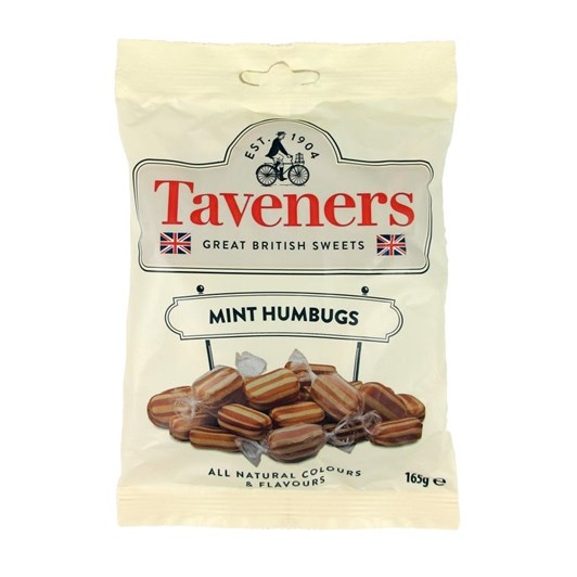 Taveners Great British Sweets Mint Humbugs 165g