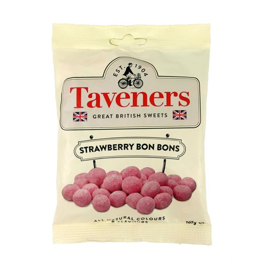 Taveners Great British Sweets Strawberry Bon Bons 165g