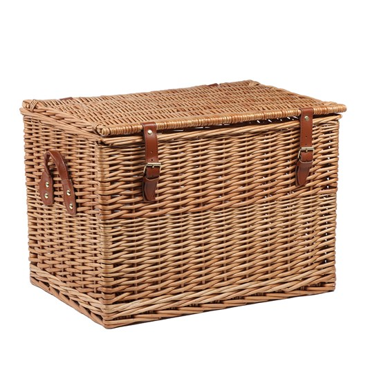 "Willow Direct 20"" Light Steamed Chest Hamper - Real Tan Leather"