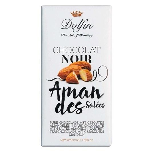 Dolfin Dark With Salted Almonds Mini 30g